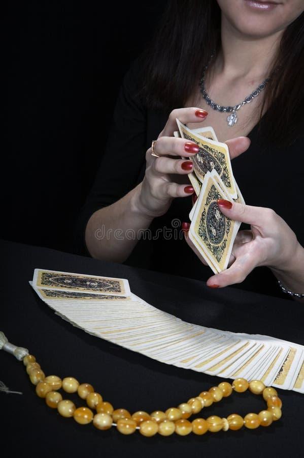 Mani del fortuneteller fotografia stock libera da diritti