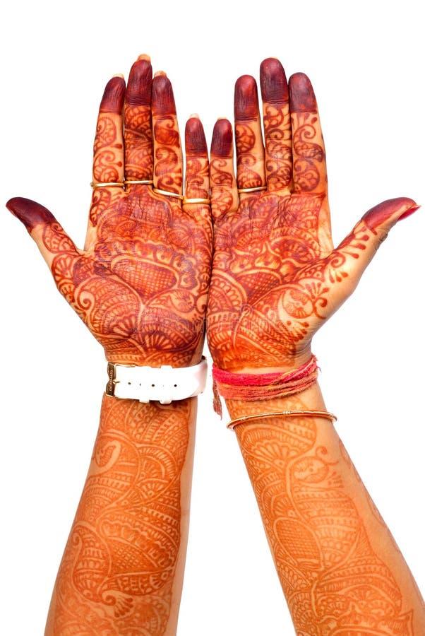 Mani del hennè immagini stock