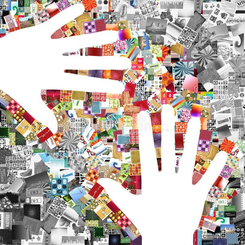 Mani dell'artista royalty illustrazione gratis