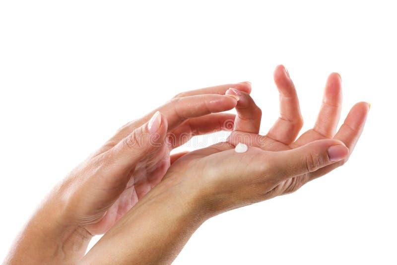 Mani della donna immagini stock