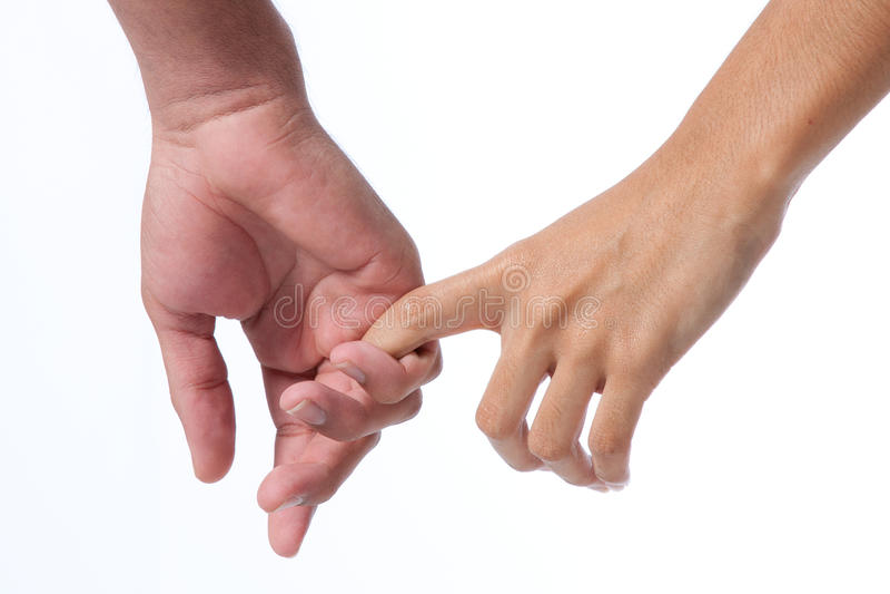 Mani della holding delle coppie fotografie stock