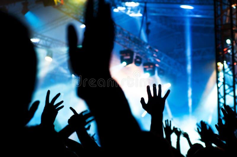 Mani di concerto fotografia stock