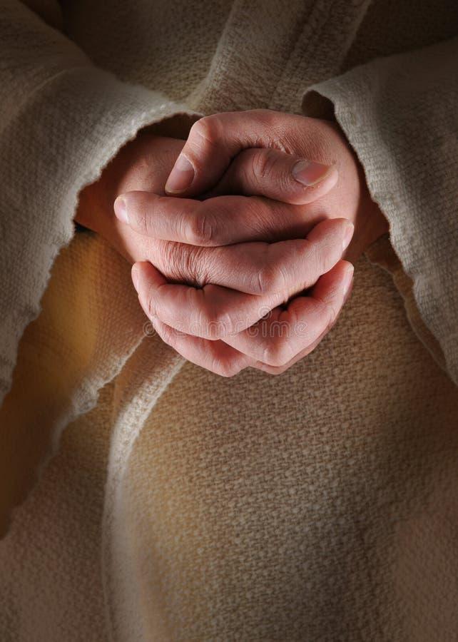 Mani di Jesus immagini stock