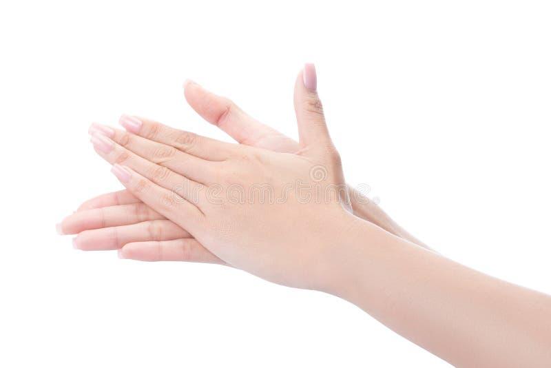 Mani di lavaggio di gesto fotografia stock