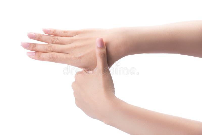 Mani di lavaggio di gesto fotografia stock libera da diritti