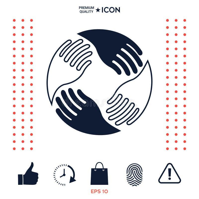 Download Mani Di Lavoro Di Squadra Logo Umano Del Collegamento Illustrazione Vettoriale - Illustrazione di cerchio, cooperazione: 117977361