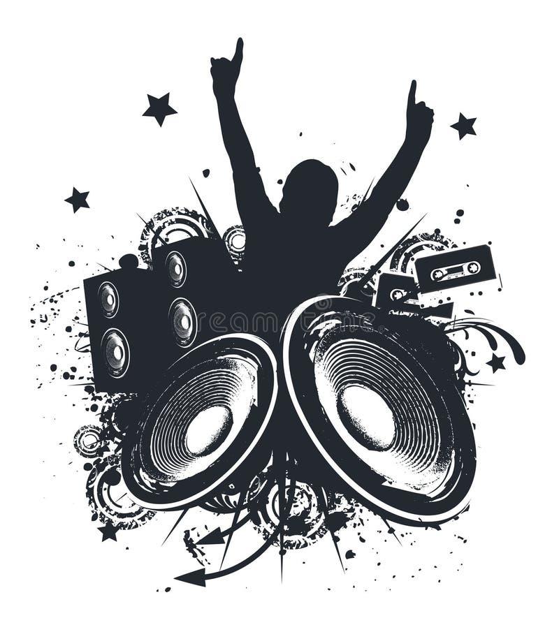 Mani di musica in su illustrazione vettoriale