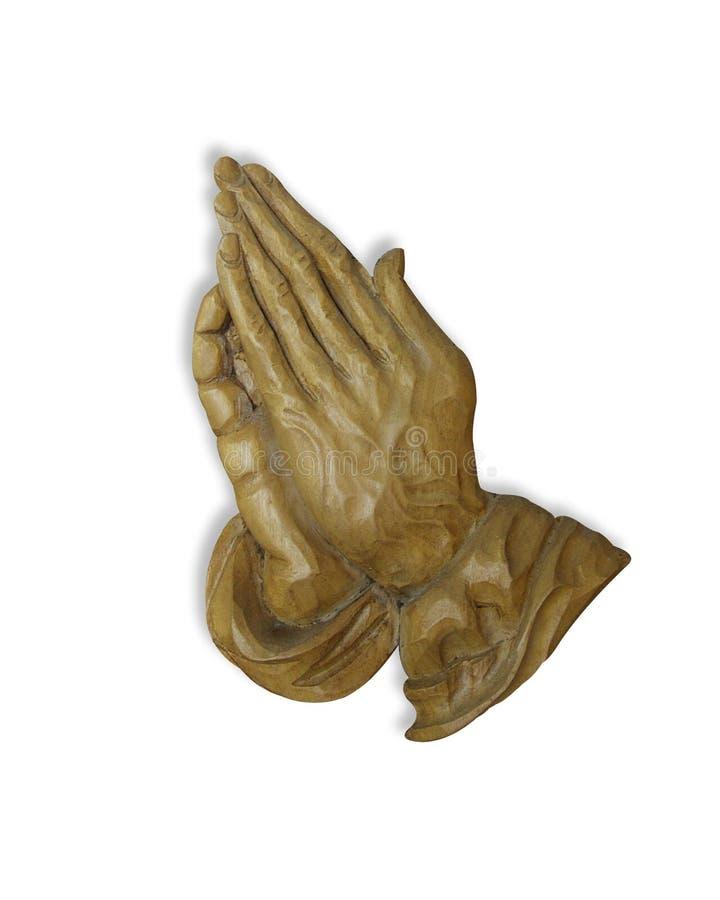 Mani di preghiera 3D immagini stock libere da diritti