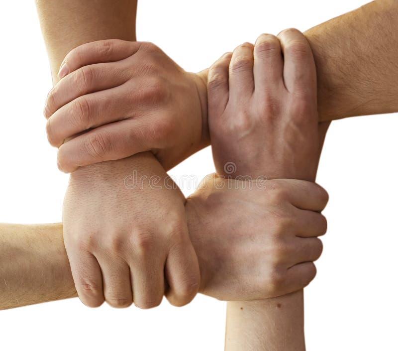 Mani di solidarietà fotografie stock