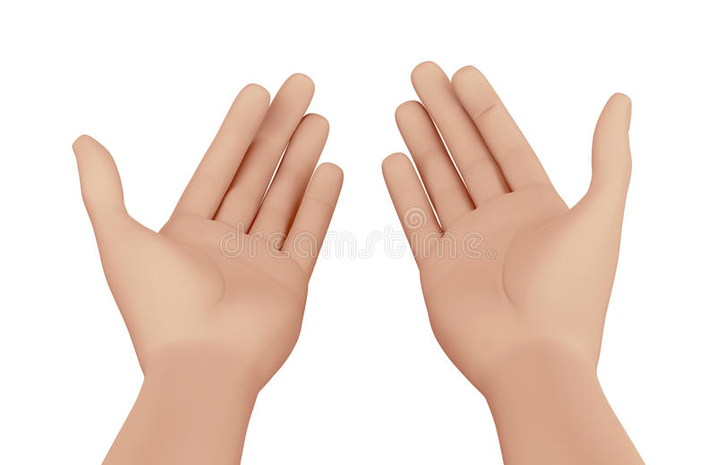 Mani di un pregare dell'uomo royalty illustrazione gratis
