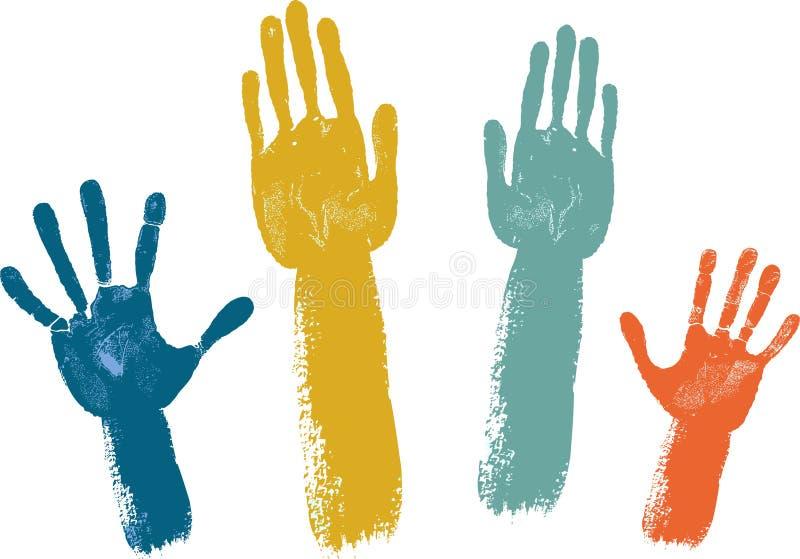 Mani di voto royalty illustrazione gratis