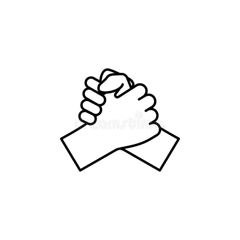 Mani, dita, segno, manifestazione, sull'icona del profilo Elemento dell'icona semplice per i siti Web, web design, cellulare app, illustrazione di stock