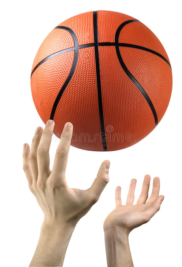 Mani e pallacanestro immagini stock
