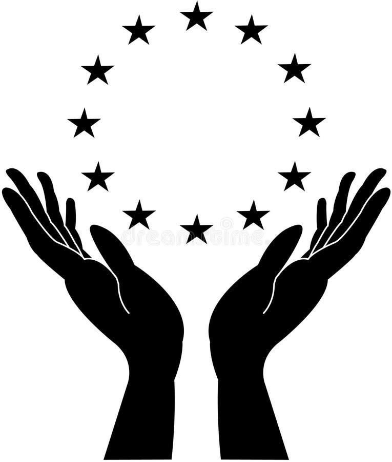 Mani e stelle preoccupantesi fotografie stock libere da diritti