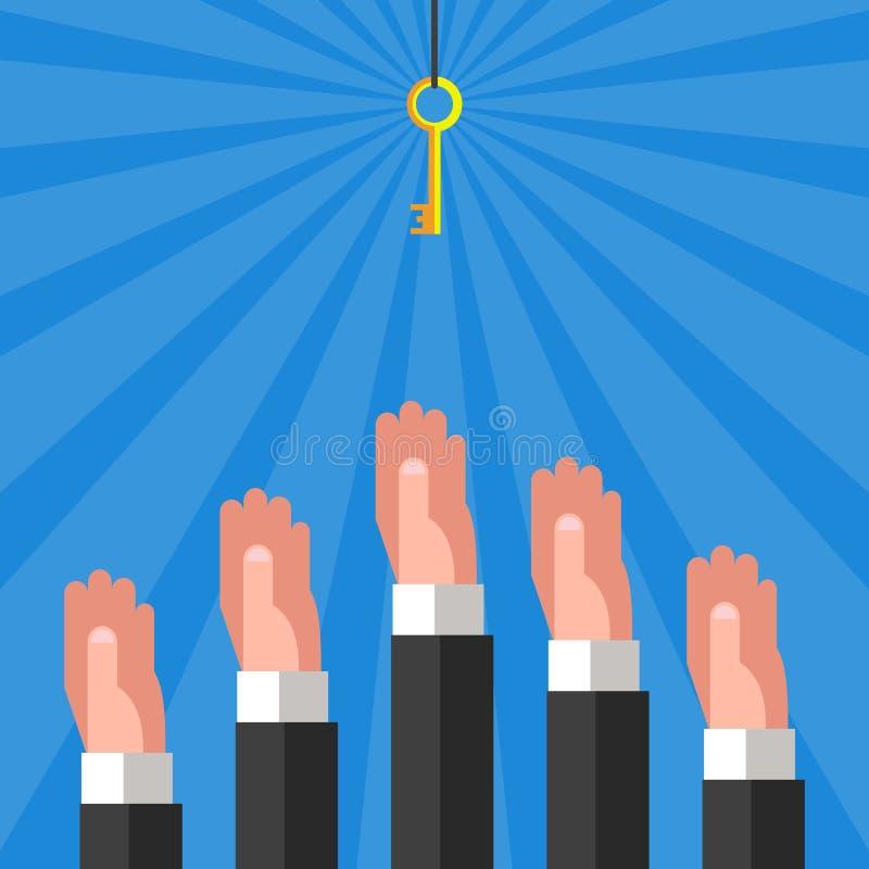 Mani e tasto royalty illustrazione gratis