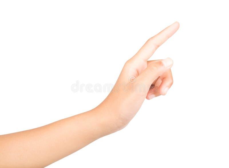 Mani ed indice, simbolo immagine stock libera da diritti