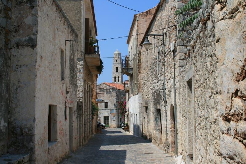 Mani - Greece. Old buildings at the village of Aeroplolis, Mani - Greece stock photos