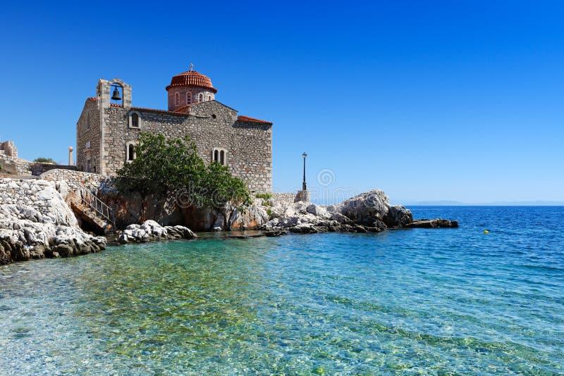 Mani, Greece. St. Taxiarchis in the village Kokkala in Eastern Mani, Greece stock photo