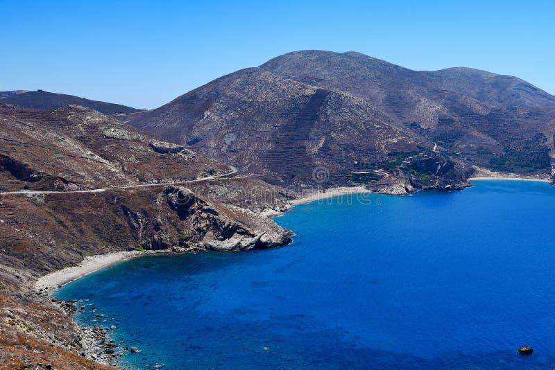 Mani, Greece. The bay Marmari at cape Tenaro in Mani, Greece stock photos