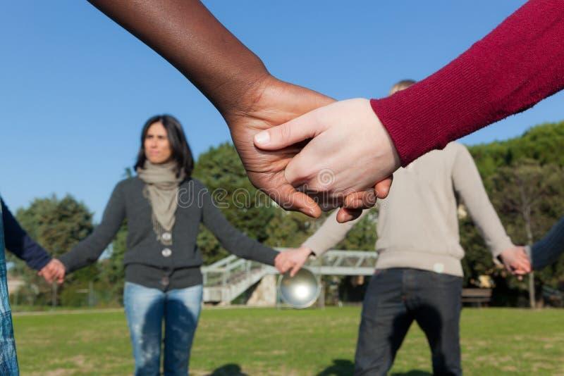 Mani Multiracial fotografia stock libera da diritti