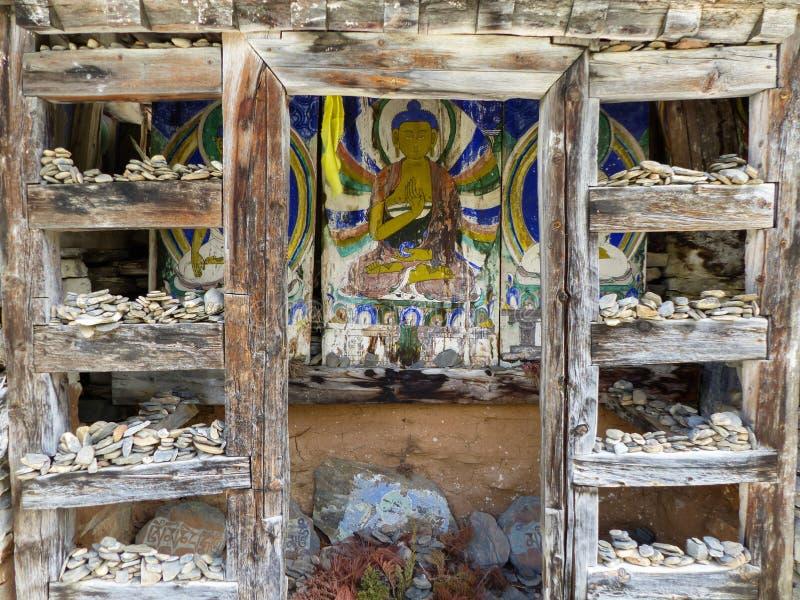 Mani-muur dichtbij Pisang-dorp stock afbeelding