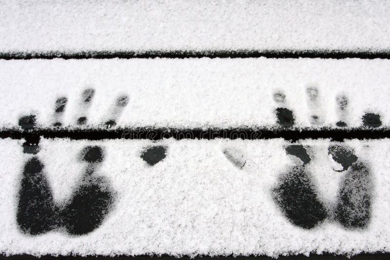 Download Mani nella neve fotografia stock. Immagine di barretta - 3892920