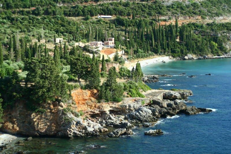 Mani peninsula coast. In Peloponesse Greece royalty free stock photography