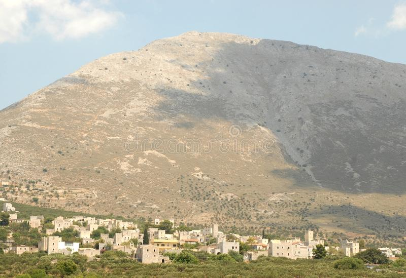 Mani Peninsula Greece royalty-vrije stock foto's