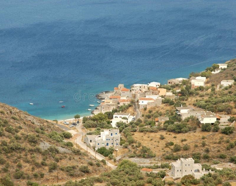Mani Peninsula Greece stock afbeeldingen