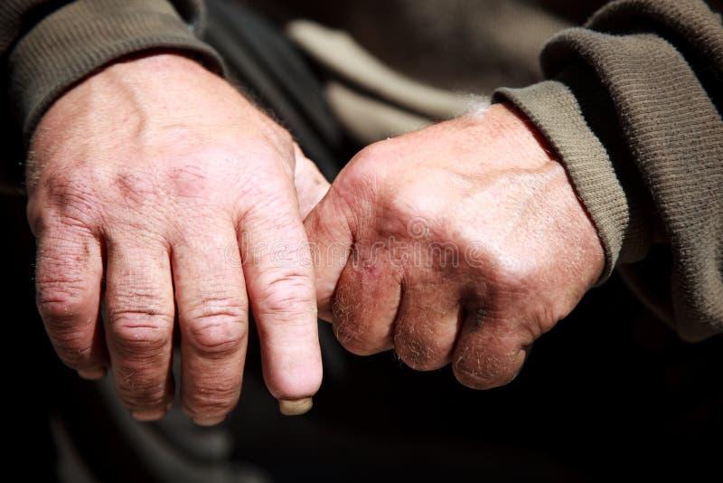 Mani senza casa immagini stock libere da diritti