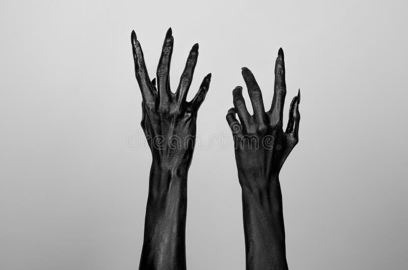 Mani sottili nere della morte illustrazione di stock
