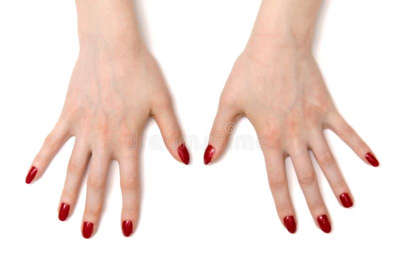 Mani spalancate della donna fotografie stock libere da diritti