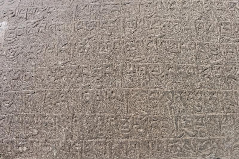 Mani-steen bij het Lamayuru-Klooster in Ladakh stock foto