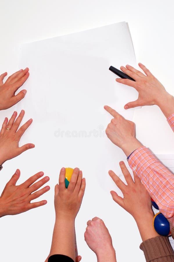 Mani sul workshop immagini stock