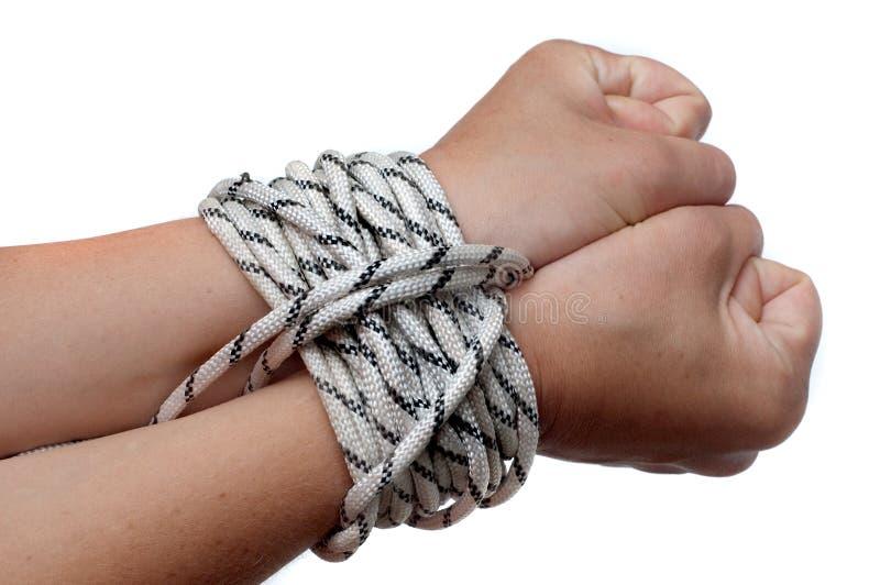 Mani sulla corda immagine stock libera da diritti