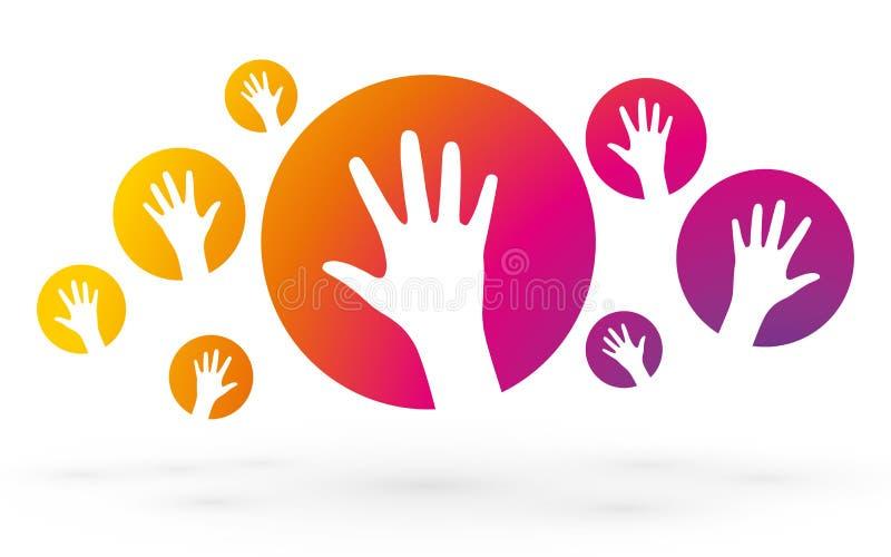 Mani variopinte illustrazione di stock