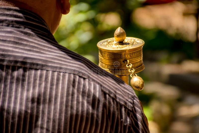 Mani Wheel - Boeddhisme royalty-vrije stock foto's