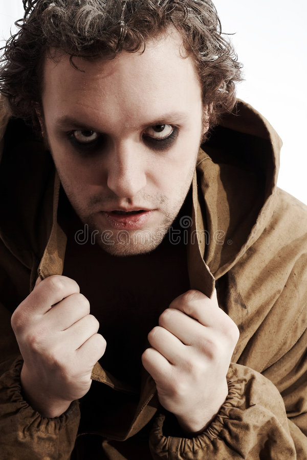 Download Maniac frowningly staring stock image. Image of maniac - 4667735