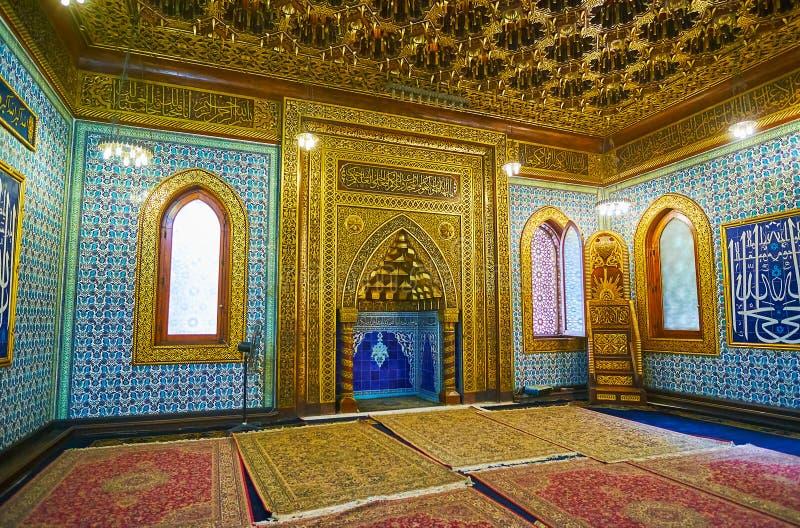 Manial宫殿清真寺,开罗,埃及米哈拉布  免版税库存图片