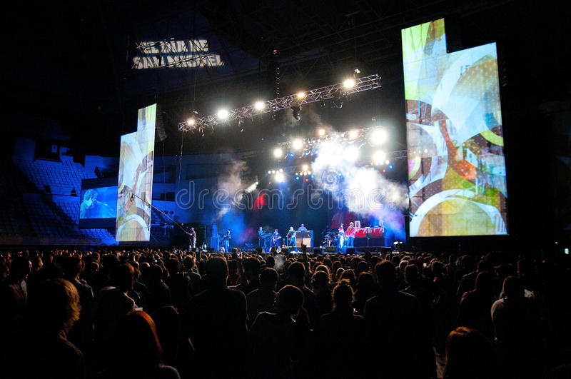 Manic Street Preachers Band Performs At Barcelona Editorial Image