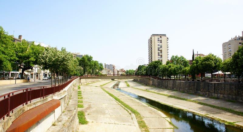 Manica del fiume Onyar immagini stock libere da diritti