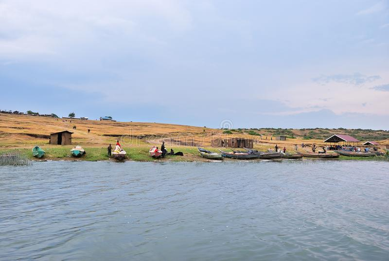 Manica di Kazinga, regina Elizabeth National Park, Uganda immagine stock libera da diritti