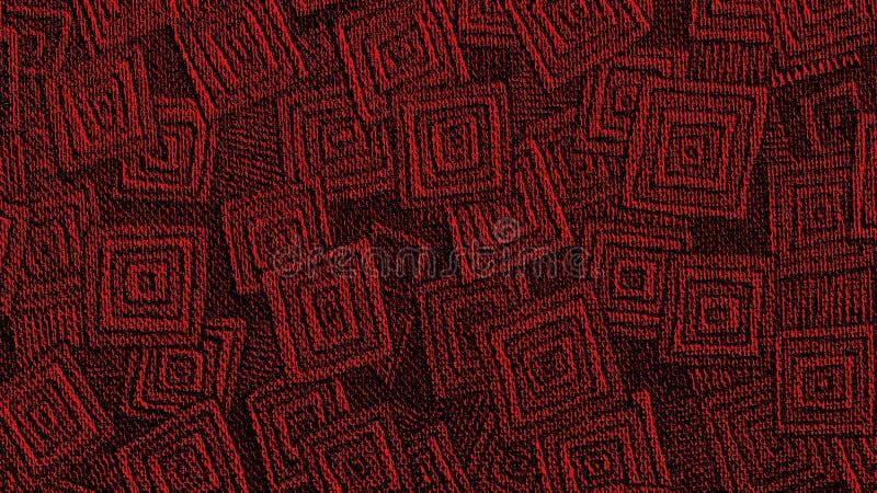 Manica geometrico rosso Art Banner di Youtube del modello fotografie stock