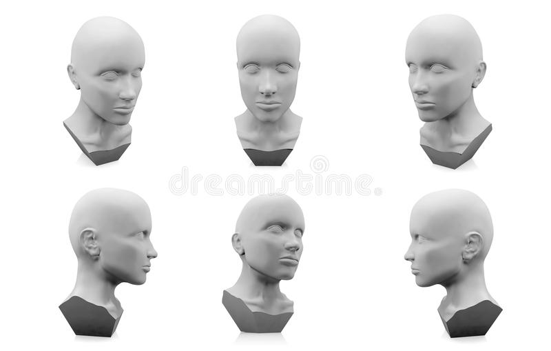 manichino della testa umana 3D fotografia stock libera da diritti