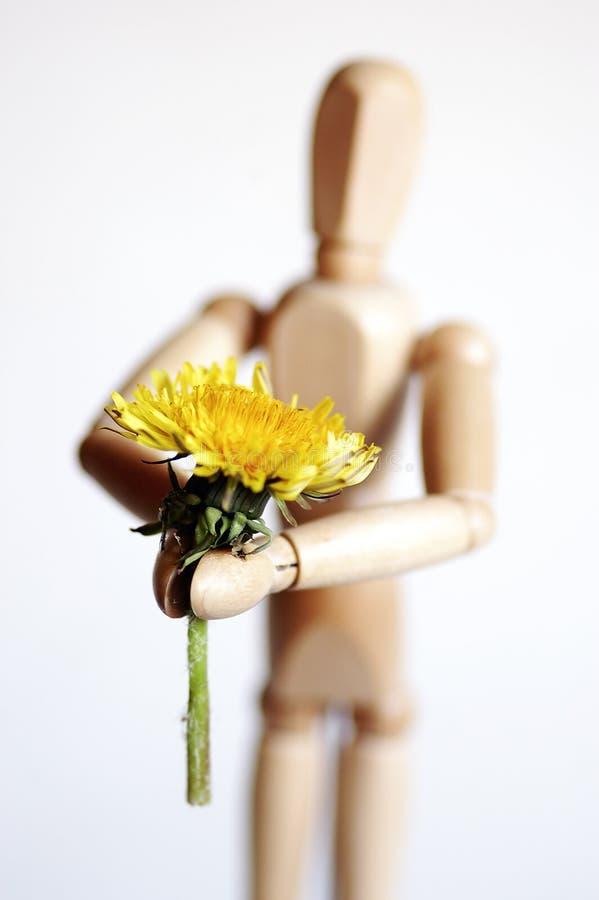 Manichino e fiore fotografia stock