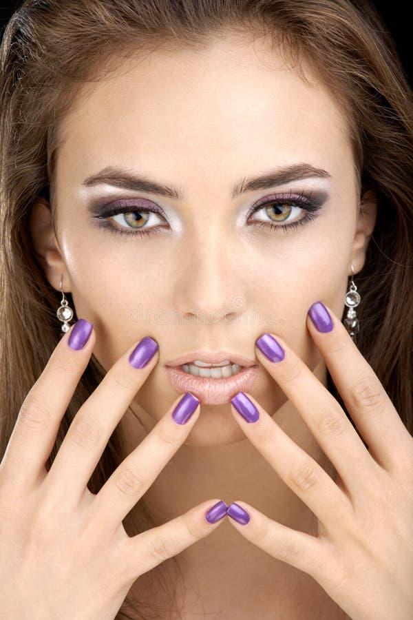 manicure девушки стоковая фотография rf