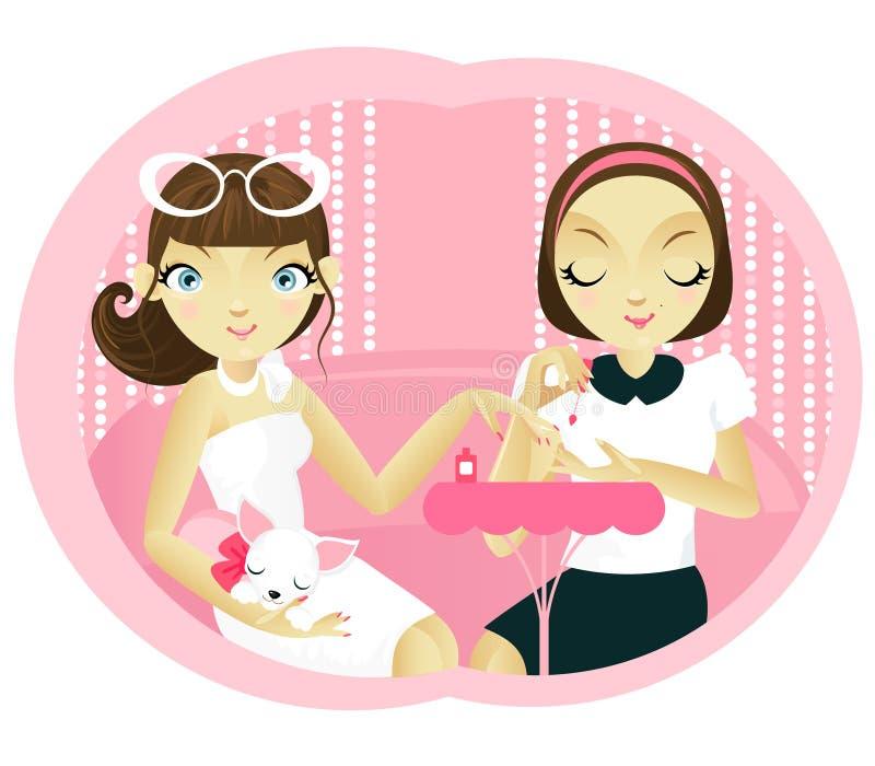 Manicure stock illustratie