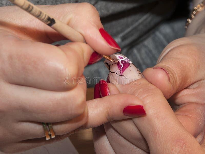 manicure arkivfoton