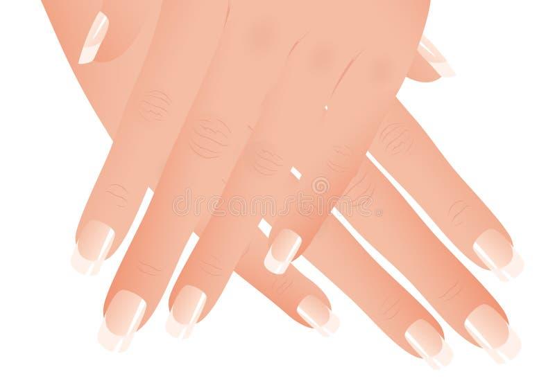 manicure royalty ilustracja