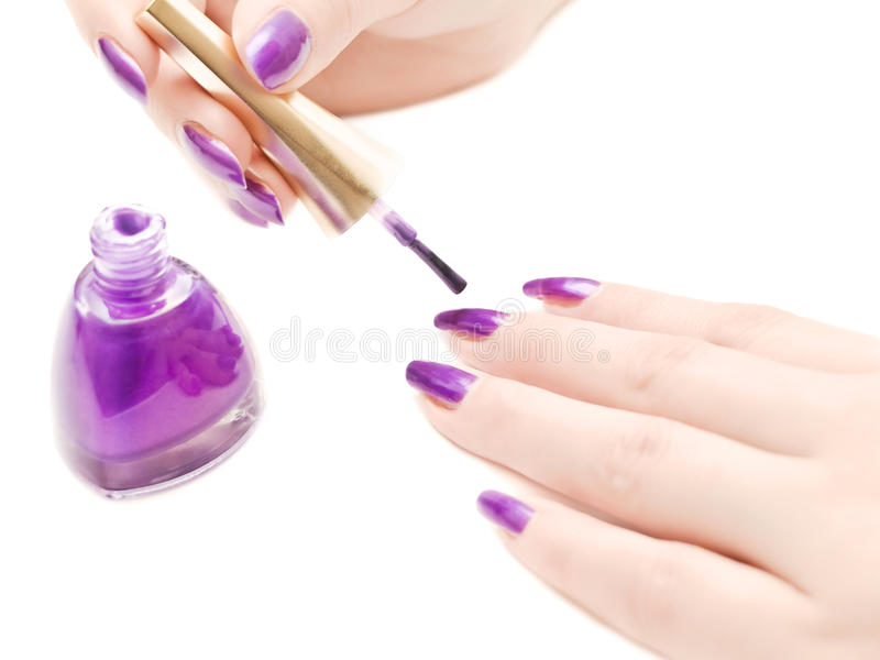 manicure royaltyfria bilder